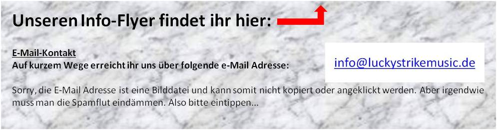E-Mail Kontakt zu Lucky Strike